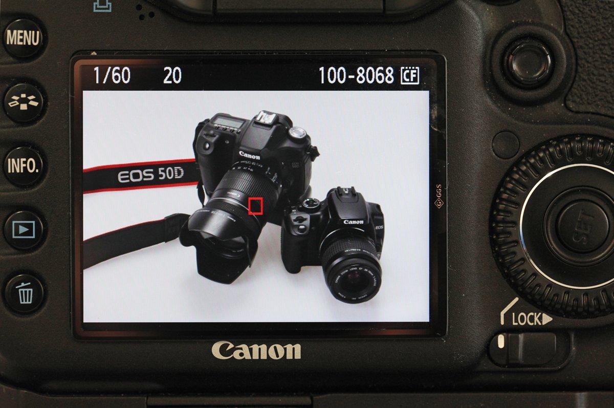 Een gemaakte foto kun je nu direct controleren op je LCD-scherm.